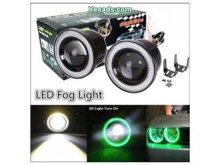 Car Universal Modification LED Angel Eye Fog Lamp