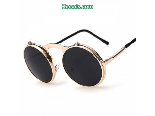 Retro Metal Punk Silver Frame Sunglasses