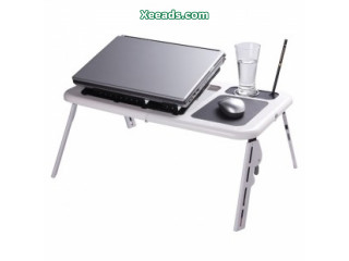 E Table Portable Foldable Laptop Table Cooling Fan