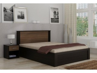 Double Tone Modern Design King / Queen / Single Bed with side tables