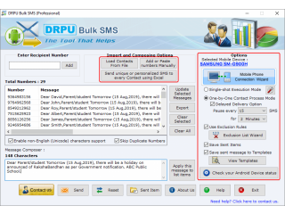 DRPU Bulk Text Messaging (SMS) Software (Android Supported)