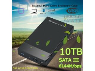 10 TB Portable Hard Drive SATA III 6G/bps