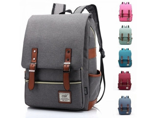 Men and Women Vintage Casual Canvas Backpack