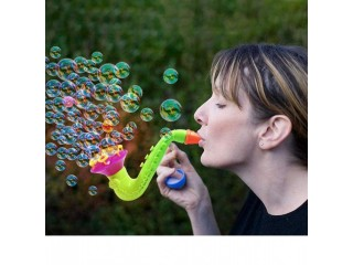 Manual Horn Shaped Bubble Machine - Multicolor