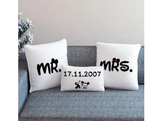Home sofa Throw Pillow Cushion Case Cover Date Customize