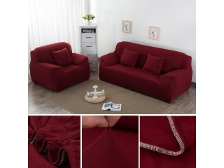 5 SEATER 3+1+1 SOFA COVER (maroon) (STANDARD SIZE)