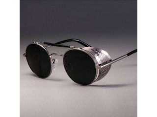 Classic Retro Steampunk Sunglasses Round Designer