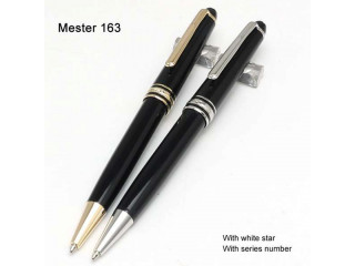 Luxury 163 Black Resin Pen Masterpiece Ballpoint