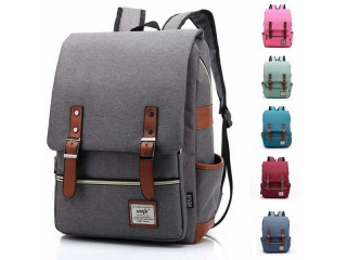 Vintage Casual Canvas Backpack Travel Bag