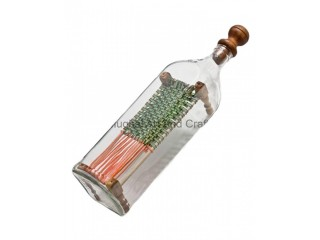 Charpai In Bottle Antique Home Decor Item