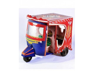 Miniature Rickshaw Model Decor Item.