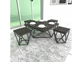 Center Table with 4 Stools Dinning Table Set