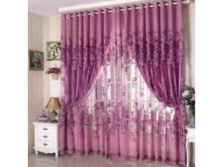 Peony Voile Window Curtain Home Living Room Curtain