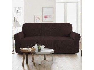 Seven Seater Jersey Sofa Cover - Dark Brown