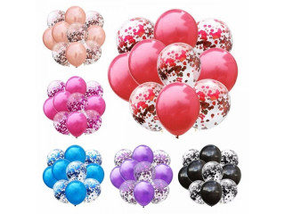 10pcs transparent confetti balloon