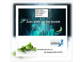 Invest Your money and get 4% to 5% monthly profit