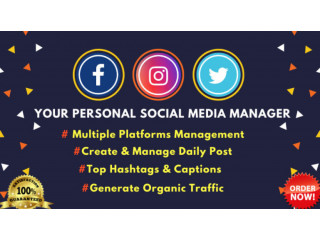 I will be your full time social media manager advertisement