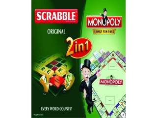 Scrabble+Monopoly 2 In 1