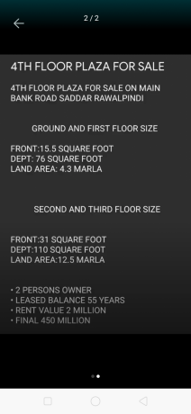 4th-floor-plaza-for-sale-on-main-bank-road-big-0