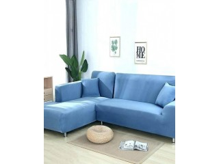 ROYAL BLUE- L SHAPE 6 SEATER SOFA PROTECTER COVER