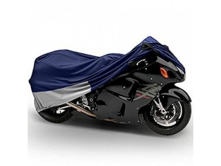 Sports Bike Heavy Bike Cover Blue (Dust Proof, Waterproof)