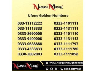 Ufone Golden Numbers in Pakistan - Buy Now