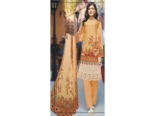 Unstitched Suit For Ladies Khadija Suleman Beautiful Style 3 Piece