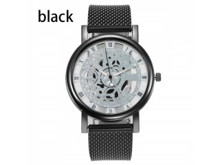 Hollow Out Quartz Watch Stainless Steel Mesh