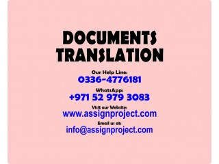 Translation of any kind of Documents in Multiple Languages