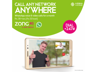 Call any network anywhere from zong
