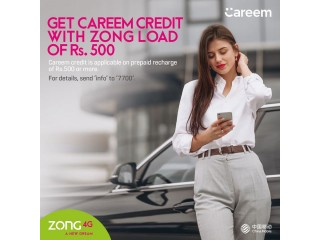 Free Careem Credits For Zong Customers