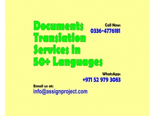 Translation of Documents in various Languages by native Translators