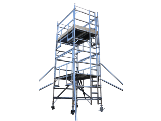 Scaffolding tower for maintenance and construction