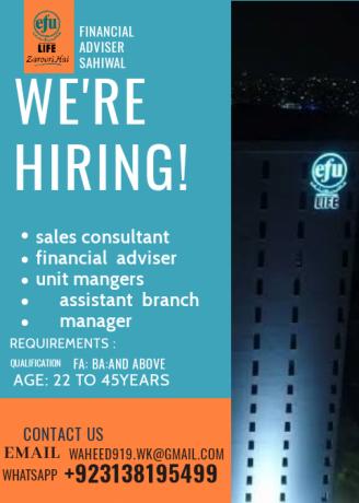 efu-life-assurance-ltd-jobs-available-in-sahiwal-big-0