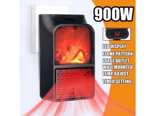 Mini Electric Flame Heater Fan Remote control 900W