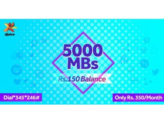 Djuice Telenor New Offer Monthly 5000 MB - 5GB Internet