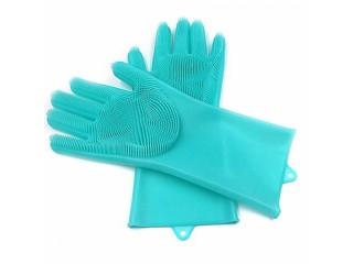 Magic Silicone Dish Washing Gloves 1 pair